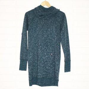 Gaiam | Teal Green Extra-Long Tunic Hoodie